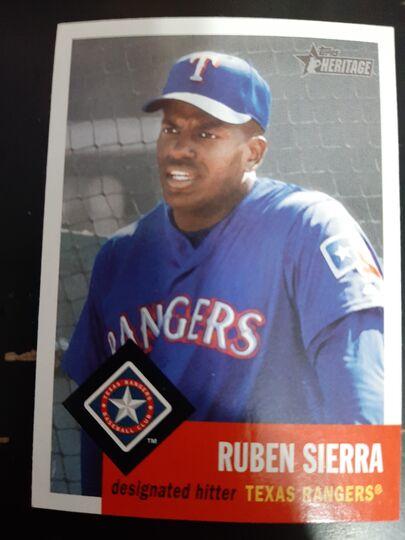 2002 Topps Heritage Ruben Sierra #325