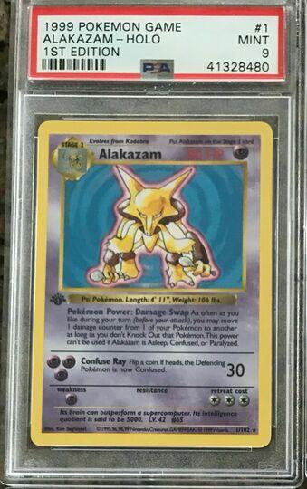 Pokemon 1st Edition Base Alakazam