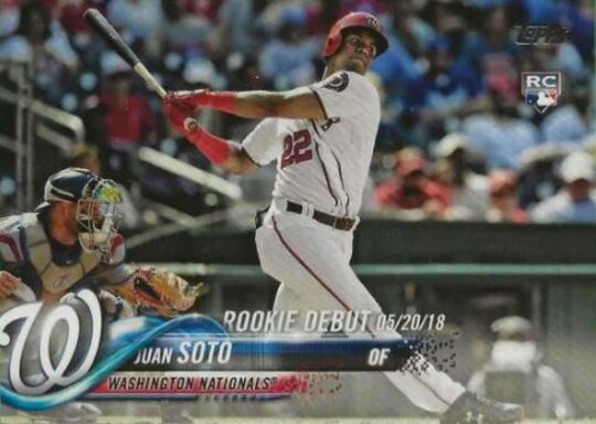 2018 Topps Update Juan Soto Rookie Debut #104