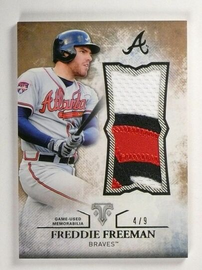 Freeman, Freddie 2015 Topps Triple Threads Patch