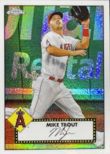 2021 Topps Series 1 Mike Trout 1952 Chrome