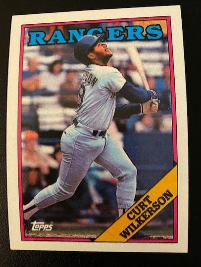 1988 Topps Rangers Curt Wilkerson 53