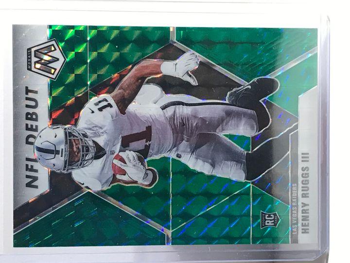 2020 Henry Ruggs III Mosaic NFL Debut Green Prizm #269