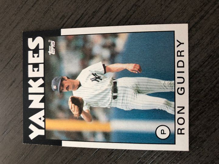 1986 TOPPS RON GUIDRY 610