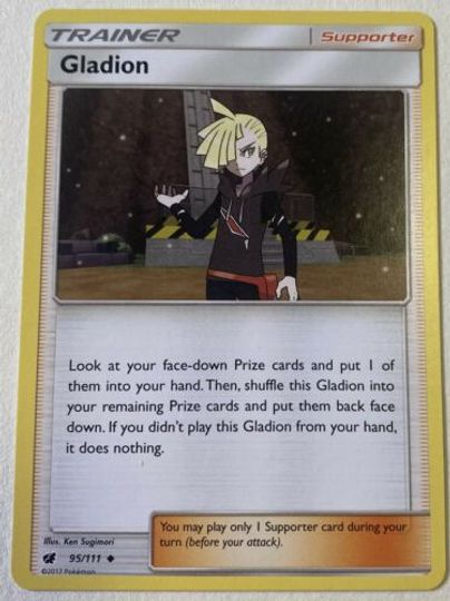 Gladion 95/111 Trainer Card