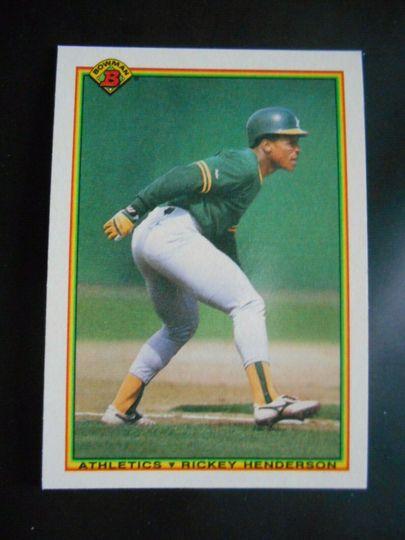 1990 Bowman Ricky Henderson #457