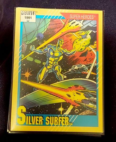 "Silver Surfer Marvel Trading Card 1991 #45 ""Super Heroes"""