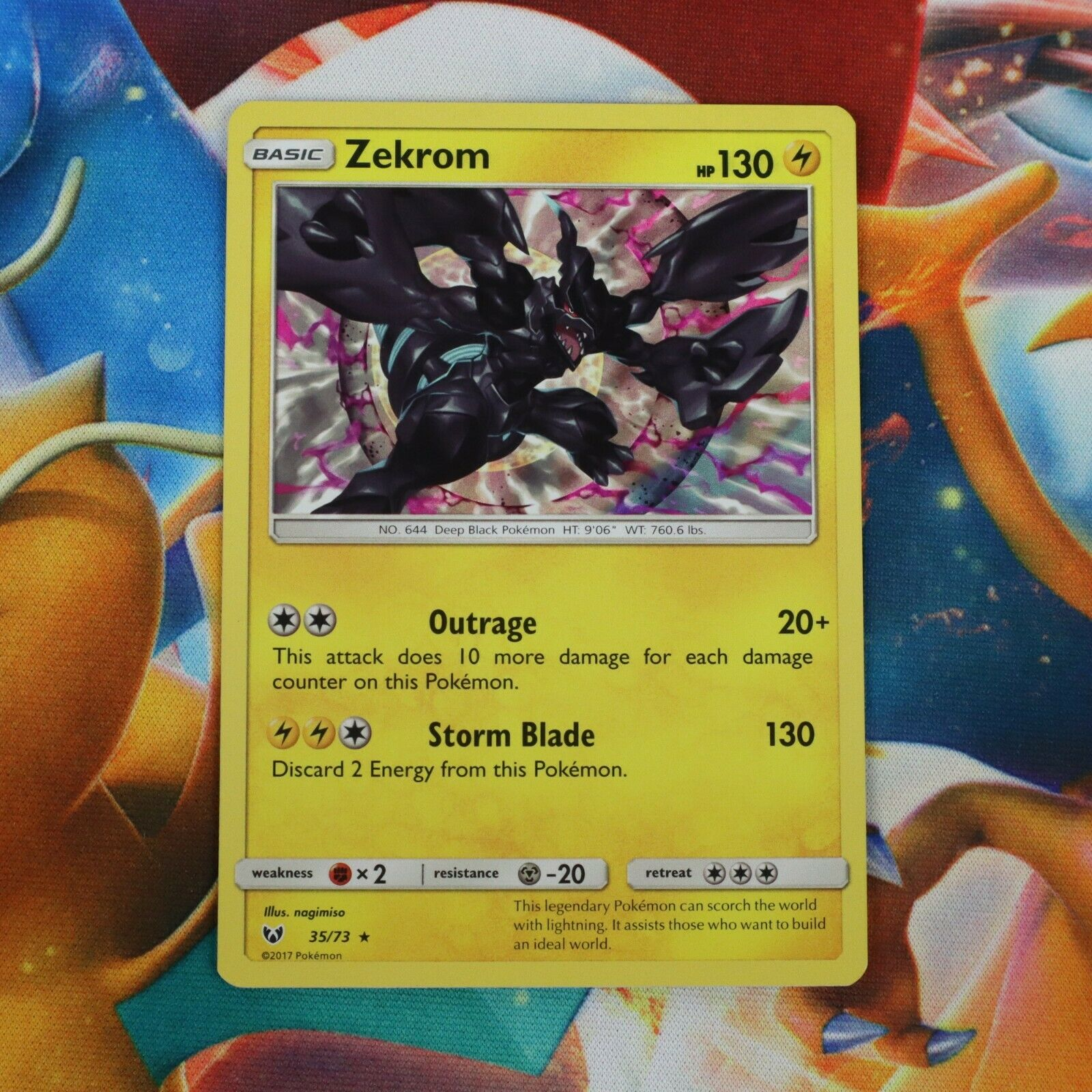 ZEKROM 35//73 Pokemon Card Holo Foil Rare SHINING LEGENDS