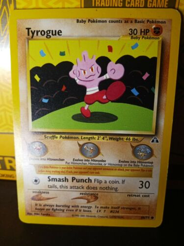 66//75 Neo Discove Common 4x Tyrogue Unlimited Edition NM-Mint Pokemon G2