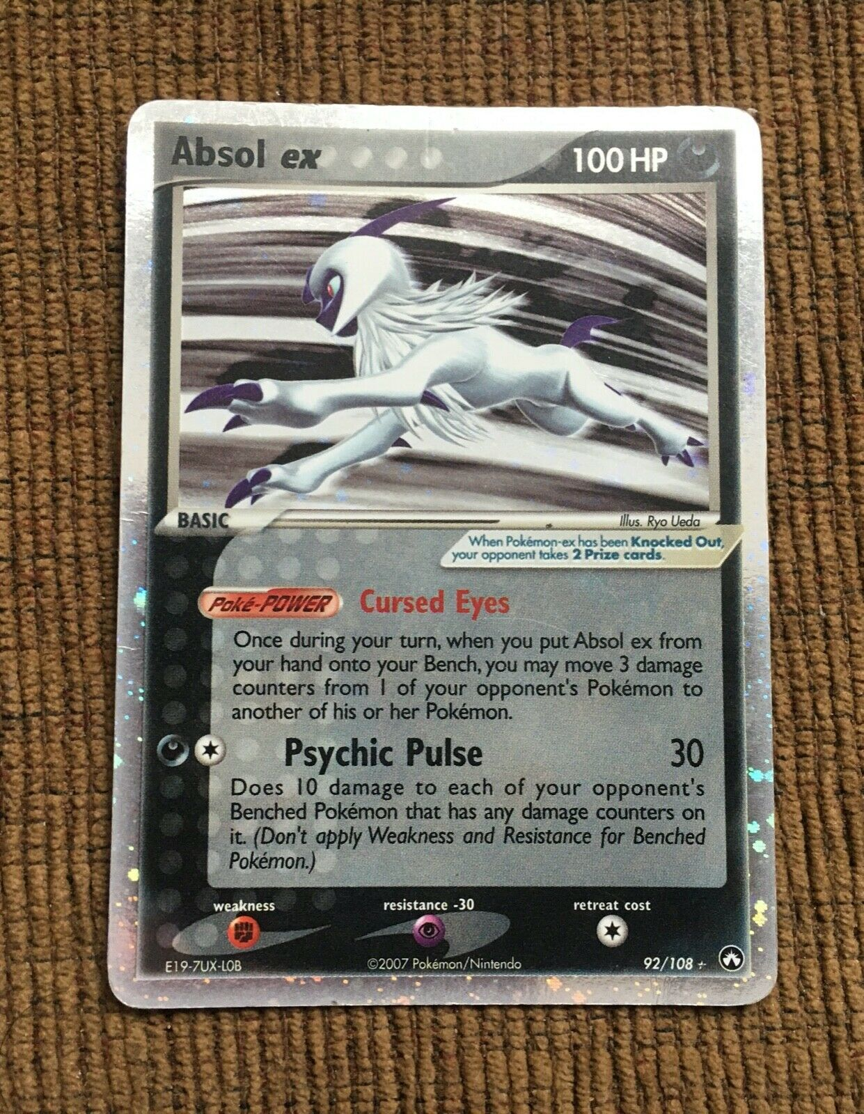 NM WC-2007 Pokemon ABSOL EX Card POWER KEEPERS Set 92//108 World Championships