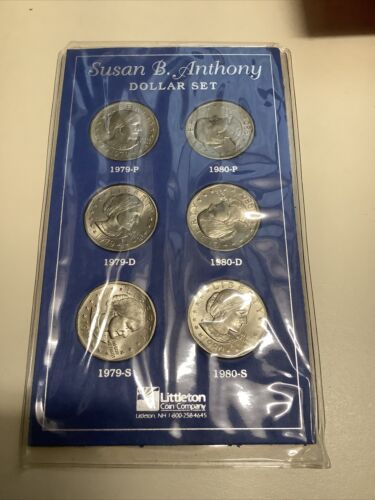 1979 D P S Susan B Anthony Dollar Set 1-D 1-P BU Mint Set Coins 1-S Roll Coin