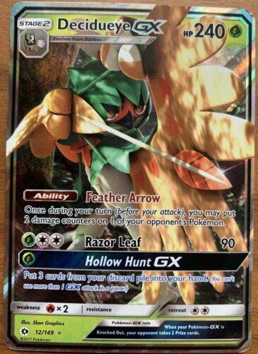 1x Decidueye GX holo full art x1 POKEMON Sun /& Moon 12//149 Ultra rare card
