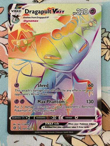 Secret Rare NM-Mint Pokemon SWSH2 1x Dragapult VMAX 197//192 Rebel Clash
