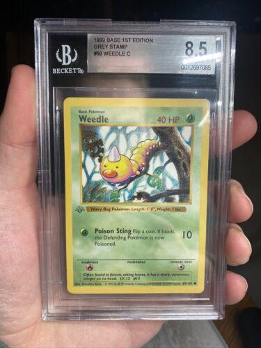 Weedle 69//102 Common Shadowless PL Base Set Pokemon 2B3