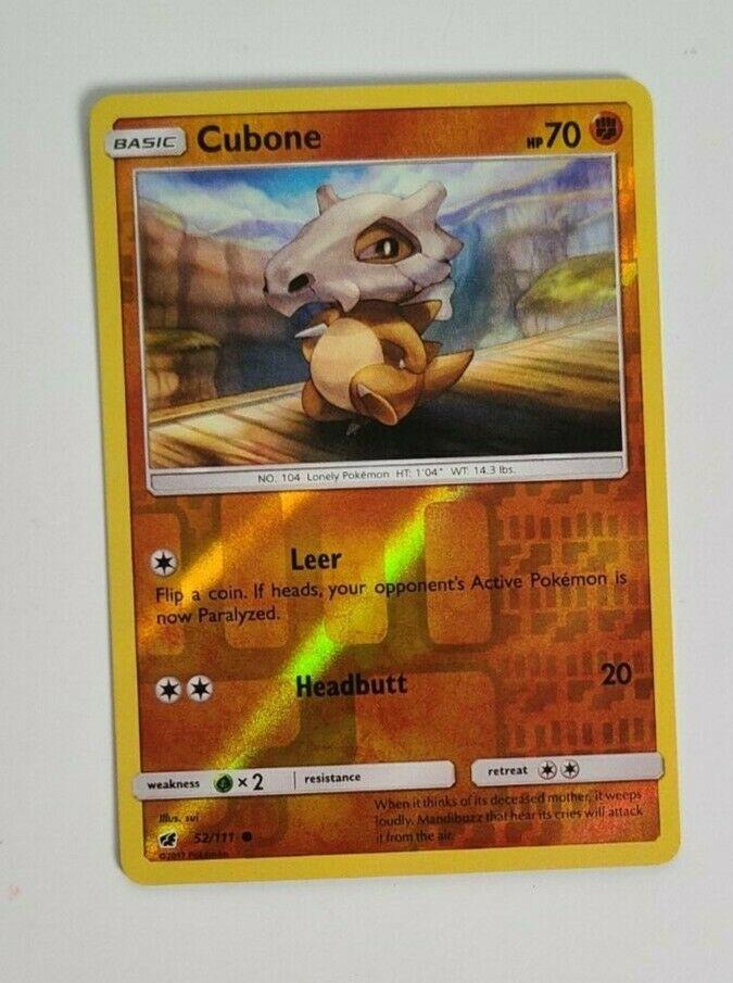 Cubone 52/111 Reverse Holo Common - Crimson Invasion - Pokemon TCG - Image 1