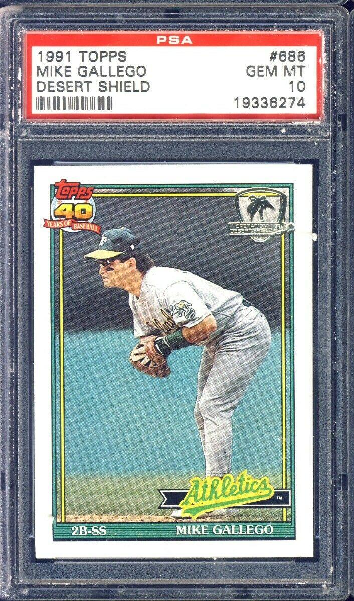 1991 Topps Desert Shield #686 Mike Gallego Oakland Athletics Baseball Card