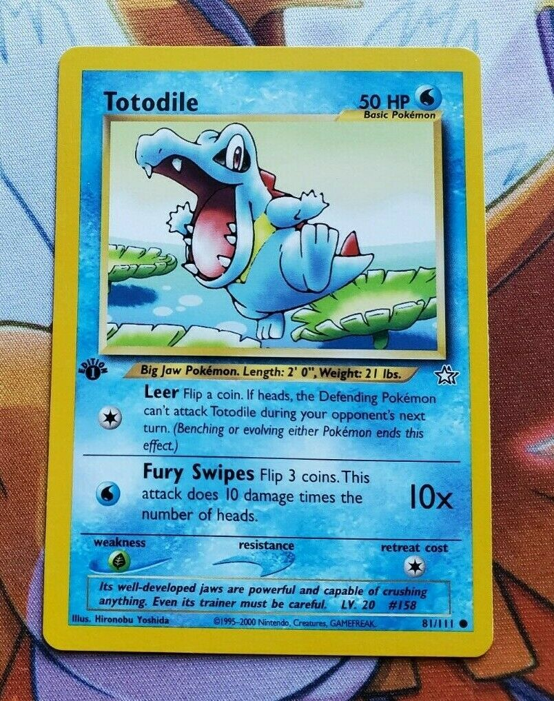 Totodile 81//111 CommonNeo GenesisPokemon Card