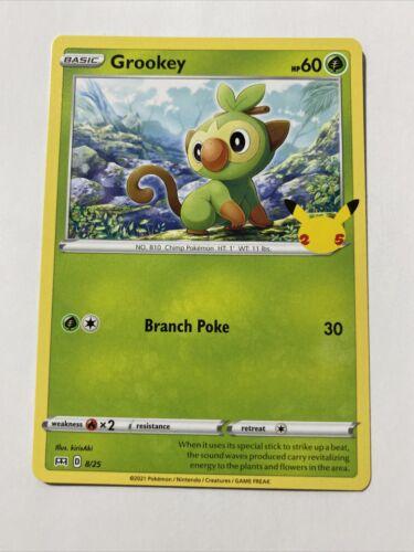 Pokemon McDonald's 25th Anniversary Grookey Base 8/25 Promo Card 2021