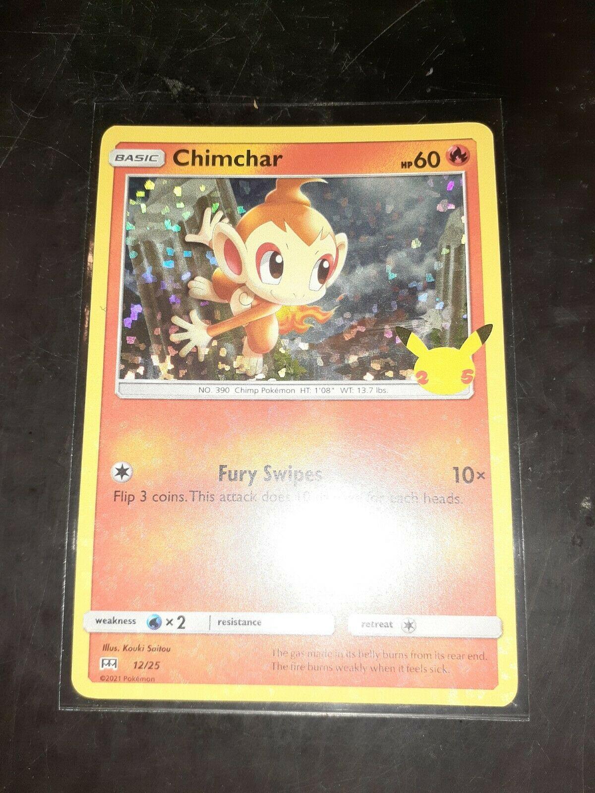 Pokemon McDonald's 25th Anniversary Chimchar 12/25 HOLO Card 2021