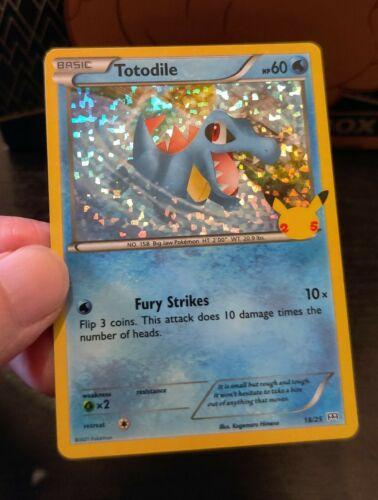 Pokemon McDonald's 25th Anniversary Totodile 18/25 HOLO Card 2021