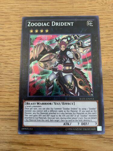 Zoodiac Drident RATE EN053 Secret Rare Mixed Edition YuGiOh