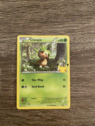 McDonald's Pokemon Holo Chespin 6/25