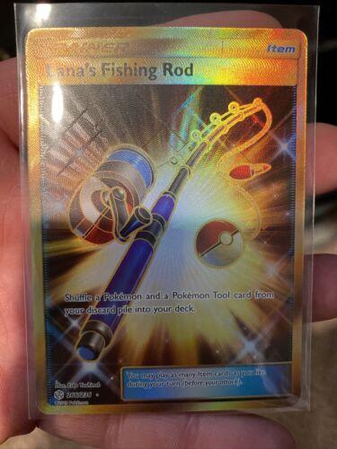Lana's Fishing Rod 266/236 Full Art Secret Rare NM-M Pokemon Cosmic Eclipse - Image 1