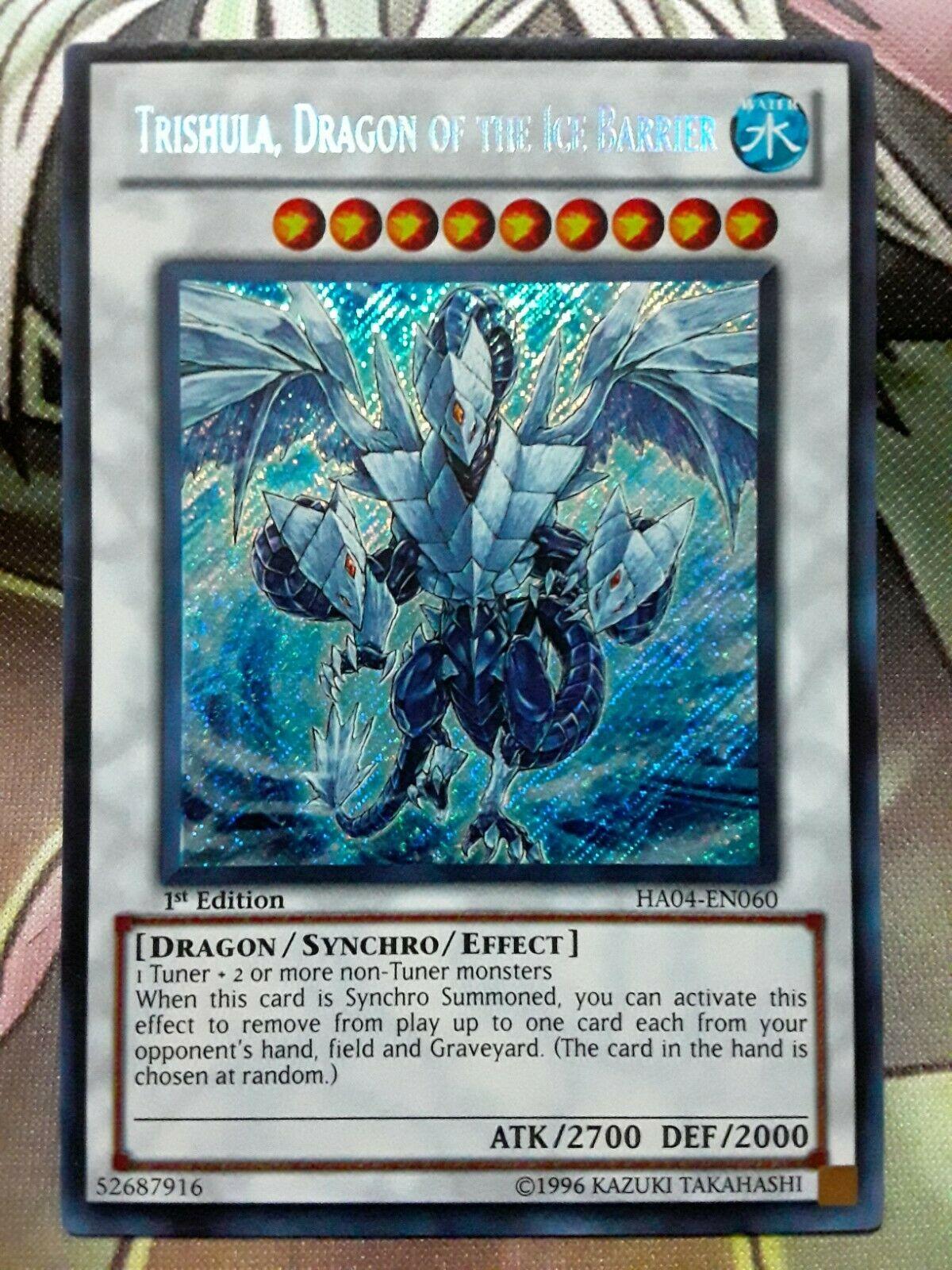 Dragon Of The Ice Barrier DUDE-EN014 Ultra Rare 1st ED NM Trishula