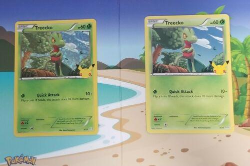 Pokemon Treecko 3/25 Holo and Non Holo 25th Anniversary McDonald's Promo Cards