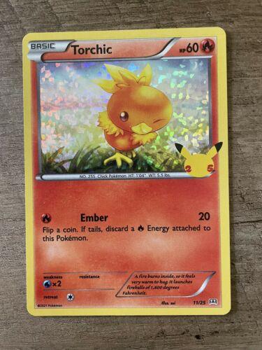 Torchic - 11/25 - Holo McDonald's 25th Anniversary Promos Pokemon Card NM