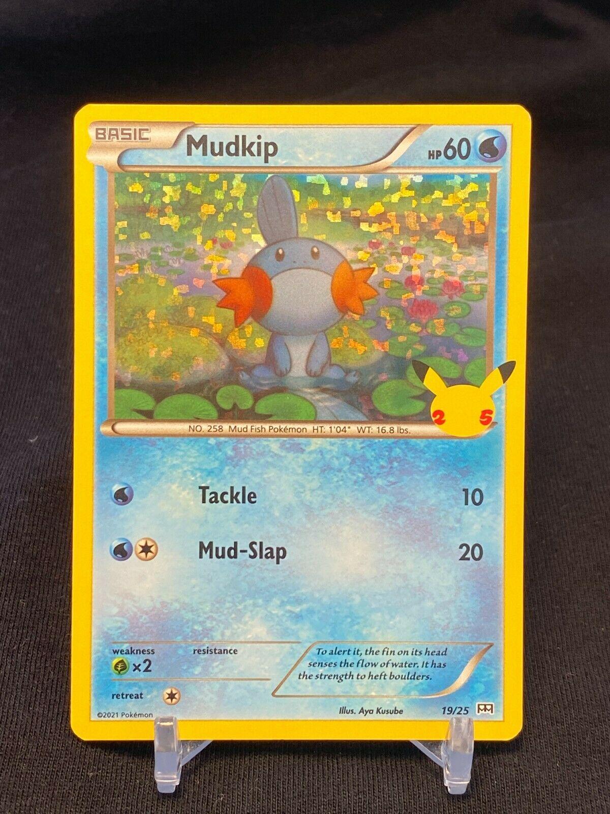 Pokemon Mudkip 19/25 HOLO McDonald's 25th Anniversary Stamped Promo Card