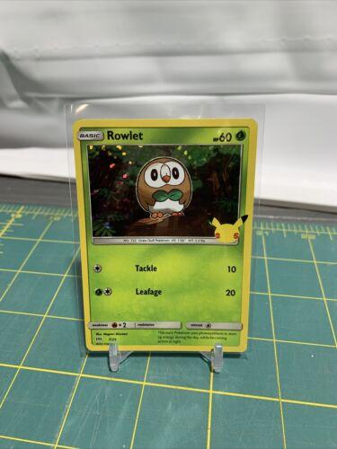 Pokemon TCG Rowlet 7/25 HOLO McDonald's 2021 Promo 25th Anniversary *MINT/NM*