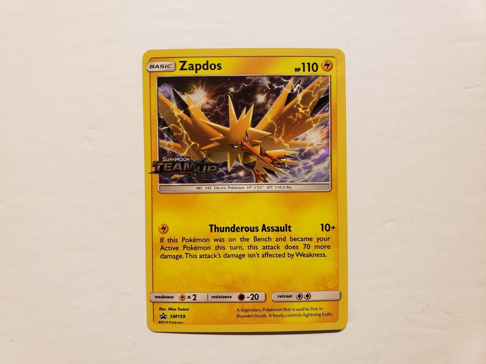Zapdos-sm159 Sun /& Moon Team Up préversions PROMO-Near Comme neuf anglais