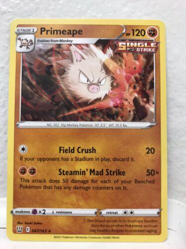 Pokemon Cards Mankey 028 Primeape 067/163 Single Strike Battle Styles Fresh Pull