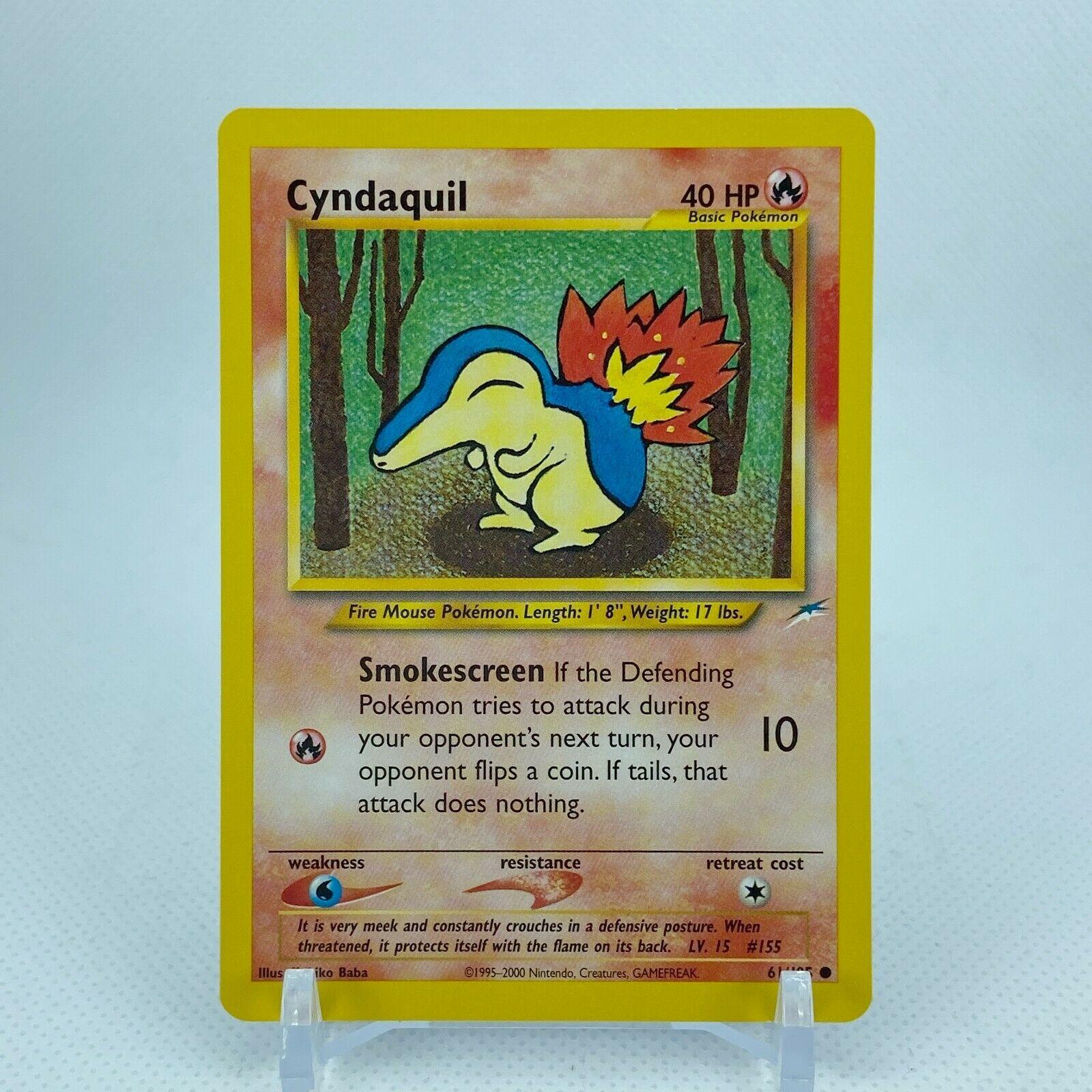 Pokemon TCG Cyndaquil 61//105 WOTC Neo Destiny MINT
