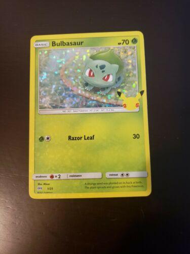 Pokemon Bulbasaur Holo 25th Anniversary McDonald's Card 1/25