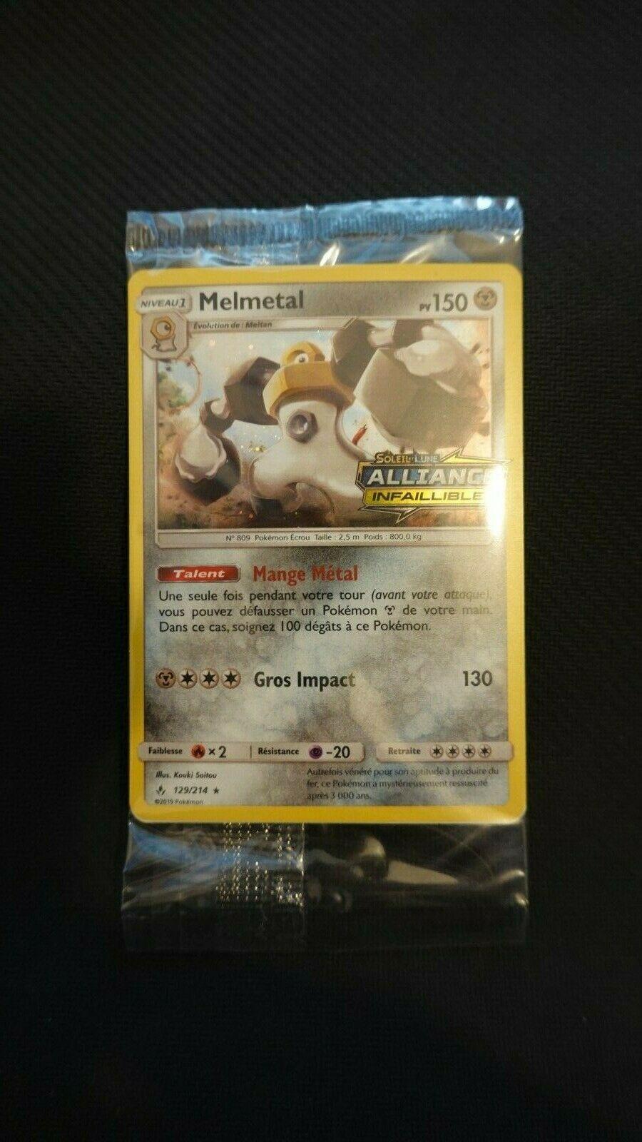 Pokemon Melmetal PROMO FR SCELLER - 129/214 SL  Alliance Infaillible