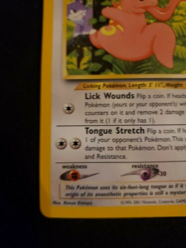 Pokemon Card Lickitung Southern Islands #16/18 LP - Image 5