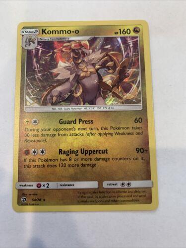 Kommo-o 54/70 Holo Rare Dragon Majesty Pokemon Card