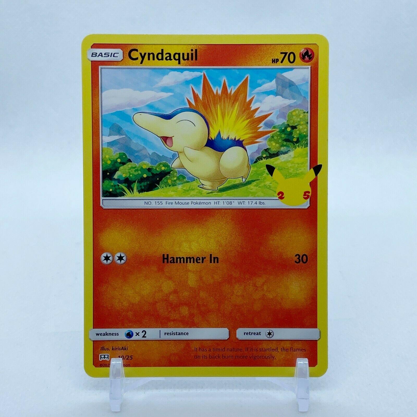 Cyndaquil - 10/25 Mcdonald's Promo 25th Anniversary  Starter Pokemon - NM/MINT