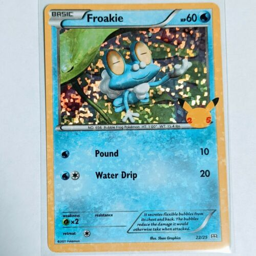 Froakie 22/25 Holo Pokemon Card McDonald's 25th Anniversary Stamped Promo 2021