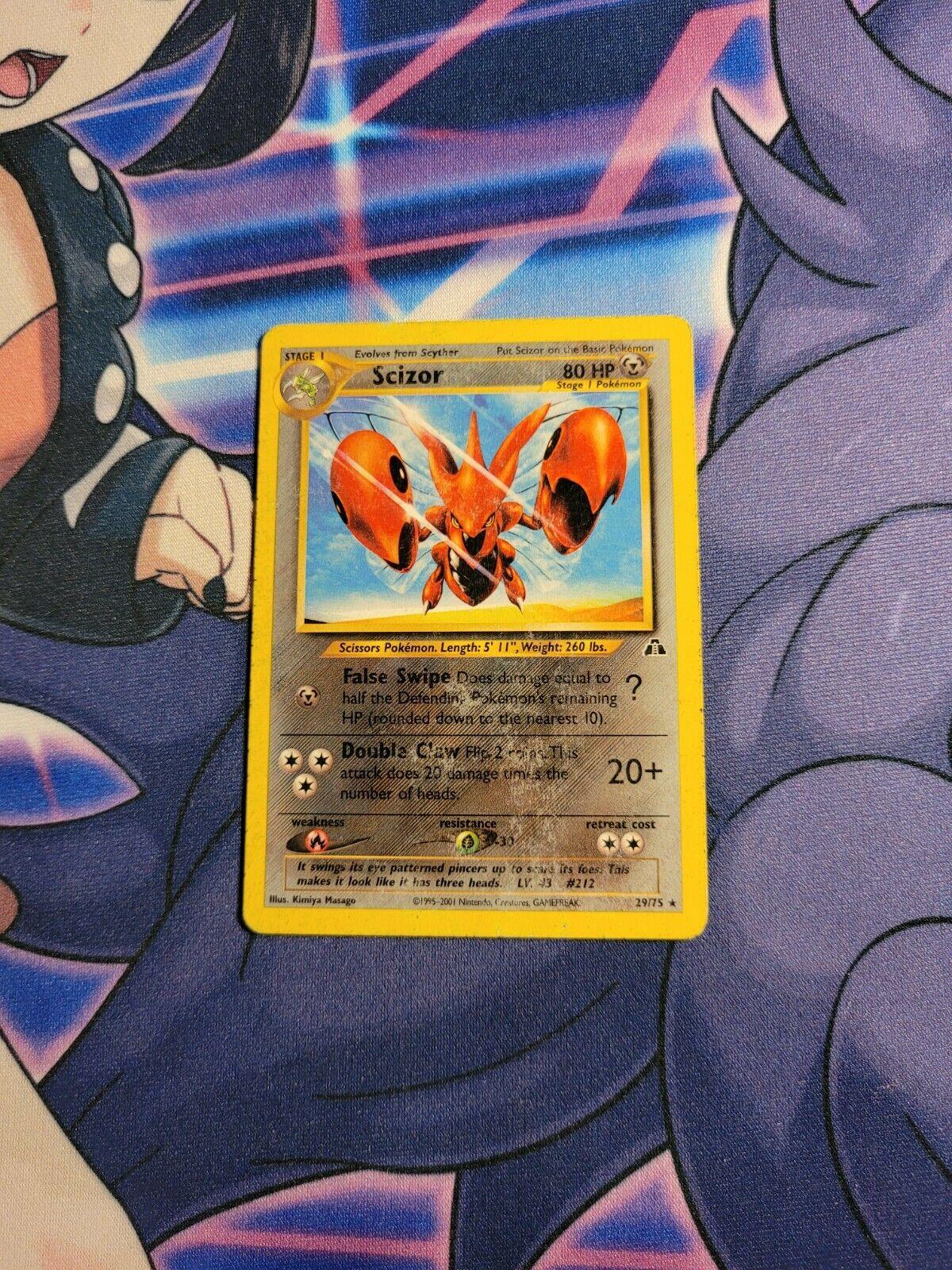 Scizor - 29/75 - Heavily Played Rare Pokemon Card - Neo Discovery - Image 1