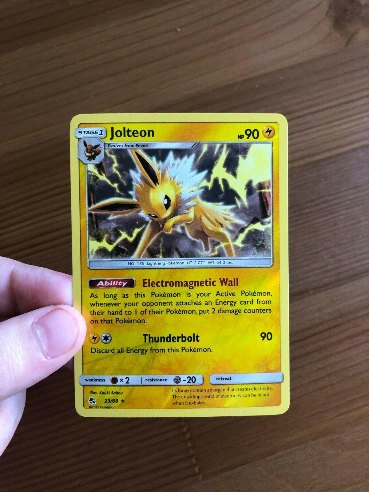Collectible Card Games Toys & Hobbies Pokemon Jolteon Holo Rare * Sun & Moon  Hidden Fates 23/68 Rev theveterinarymedicine.com