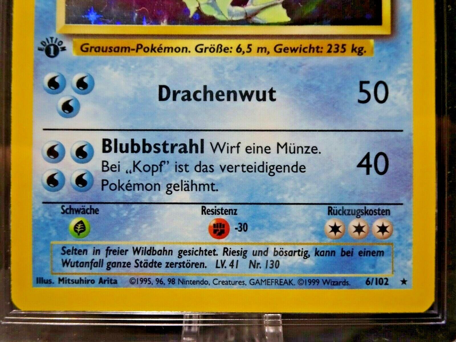 1999 GERMAN GYARADOS GARADOS Base Set 1ST EDITION Holo Rare Pokemon 6/102 CGC 9 - Image 3