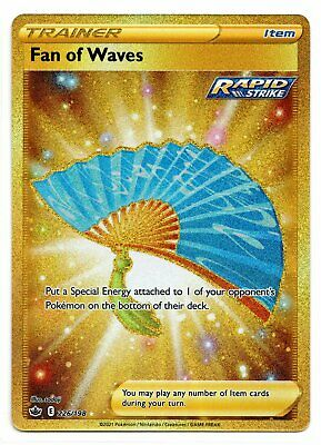 Pokemon Fan of Waves 226/198 Gold Secret Rare Chilling Reign NEW IN-HAND