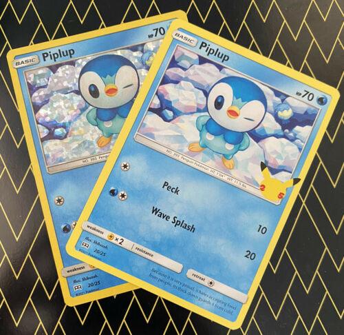 Piplup x1 Pokemon TCG 25th Anniversary McDonald's Holo & Non Holo 20/25 Nm