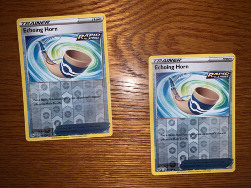 x2 Echoing Horn Rapid Strike 136/198 Chilling Reign Uncommon REVERSE HOLO