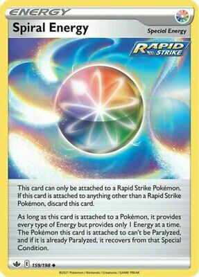 x1 Spiral Energy - 159/198 - Uncommon - Reverse Holo Pokemon SS06 Chilling Reign