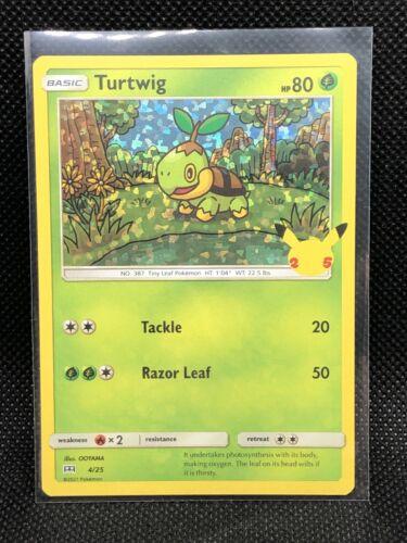 Pokemon TCG - Turtwig 4/25 Holo Mcdonald's 25th Anniversary - Error Holo Bleed