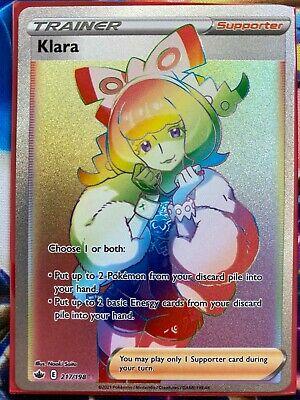 Pokemon Card   KLARA   Secret Rare  217/198  CHILLING REIGN *M